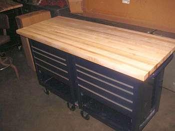 Butcher-block workbench